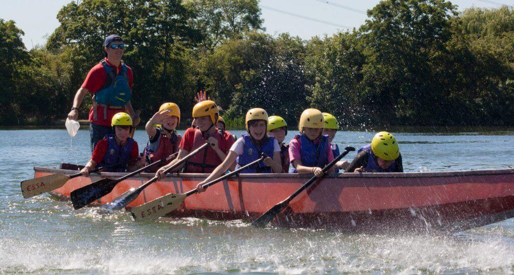 Dragon boat action