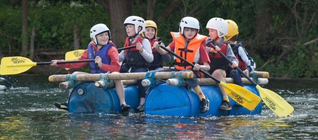traditional rafting